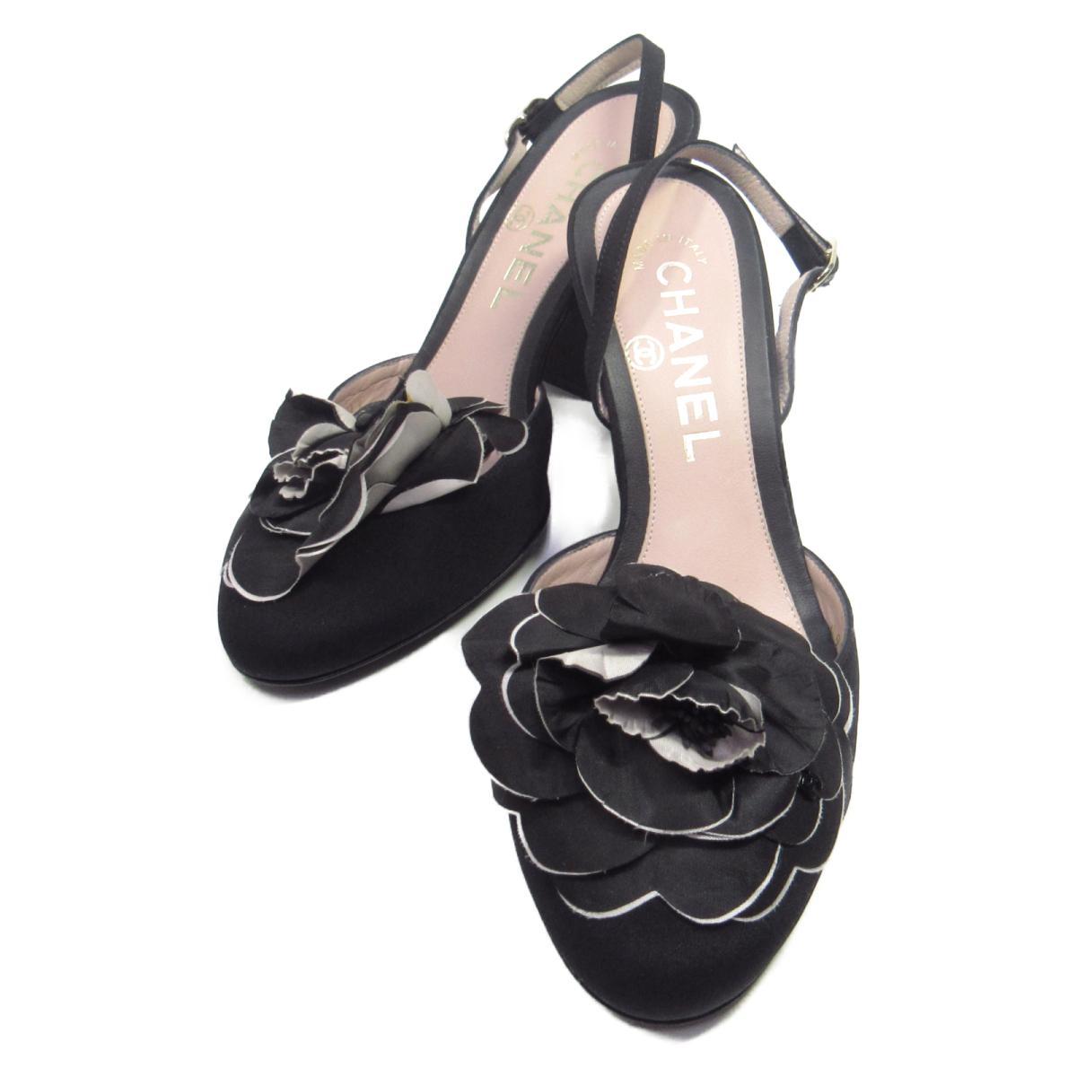 【中古】 シャネル サンダル レディース サテン | CHANEL くつ 靴 サンダル 美品 ブランドオフ