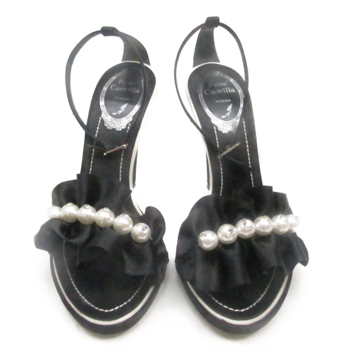 【中古】 セレクション Rene' Caovilla ミュール レディース サテン パール ラインストーン | SELECTION くつ 靴Rene' Caovilla ミュール