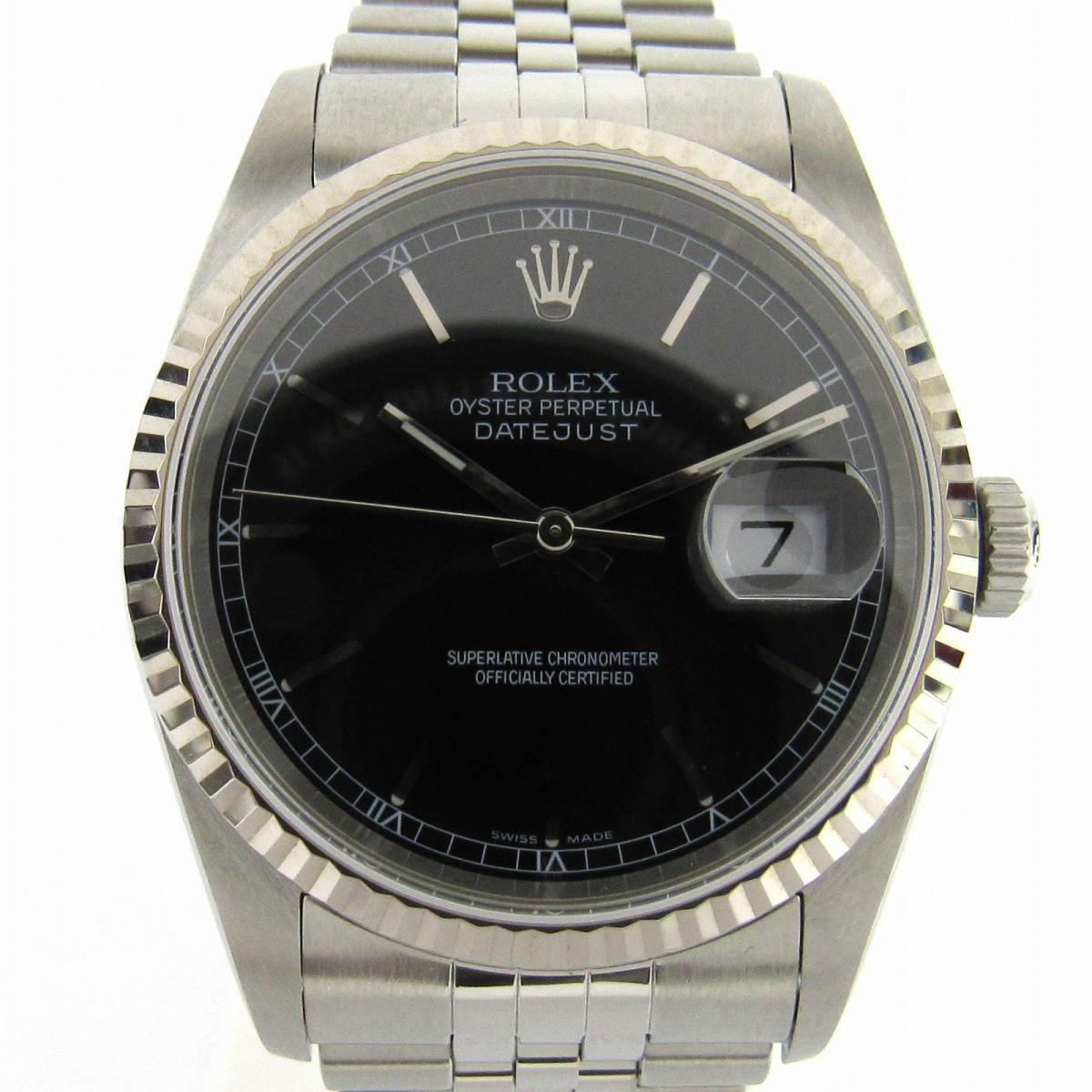 【中古】 ロレックス デイトジャスト ウォッチ 腕時計 メンズ ステンレススチール (SS) (16234 Y番)   ROLEX オートマチック 自動巻き 時計 デイトジャスト 美品 ブランドオフ