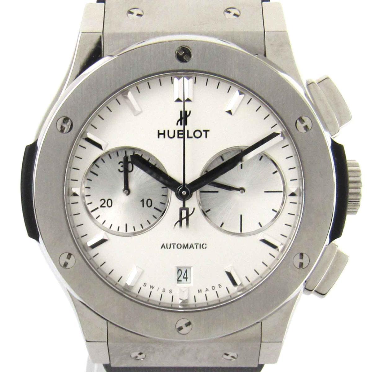 【中古】 ウブロ クラシックフュージョン クロノ ウォッチ 腕時計 メンズ チタン x ラバー (521.N x .2611.R x )   HUBLOT オートマチック 自動巻き 時計 クラシックフュージョン クロノ 美品 ブランドオフ