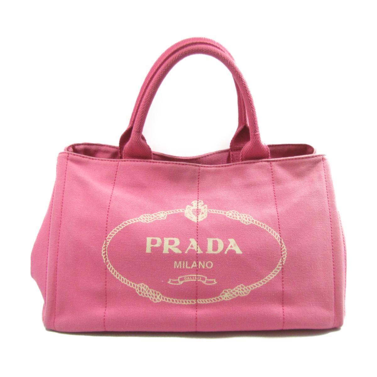 【中古】 プラダ カナパトートバッグ ハンドバッグ レディース キャンバス ピンク (BN0877) | PRADA トートバッグ ハンドバック バッグ バック BAG カバン 鞄 ブランドバッグ ブランドバック ブランドオフ
