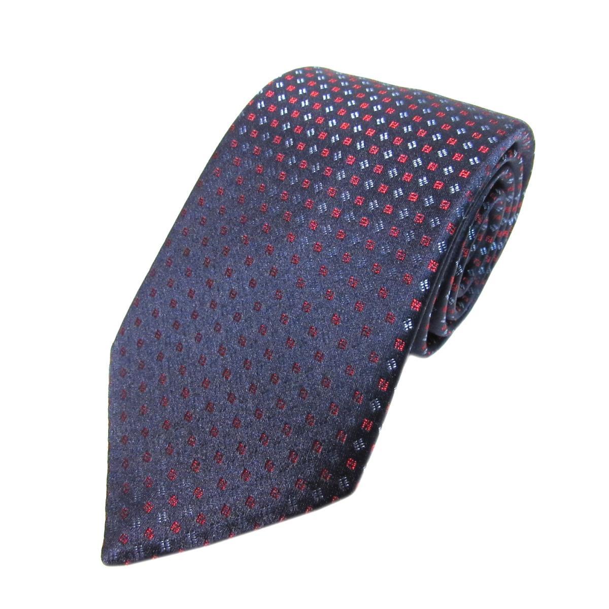 フェンディ ネクタイ メンズ シルク ネイビー x レッド ブルー | FENDI ネクタイ 新品 ブランドオフ BRANDOFF