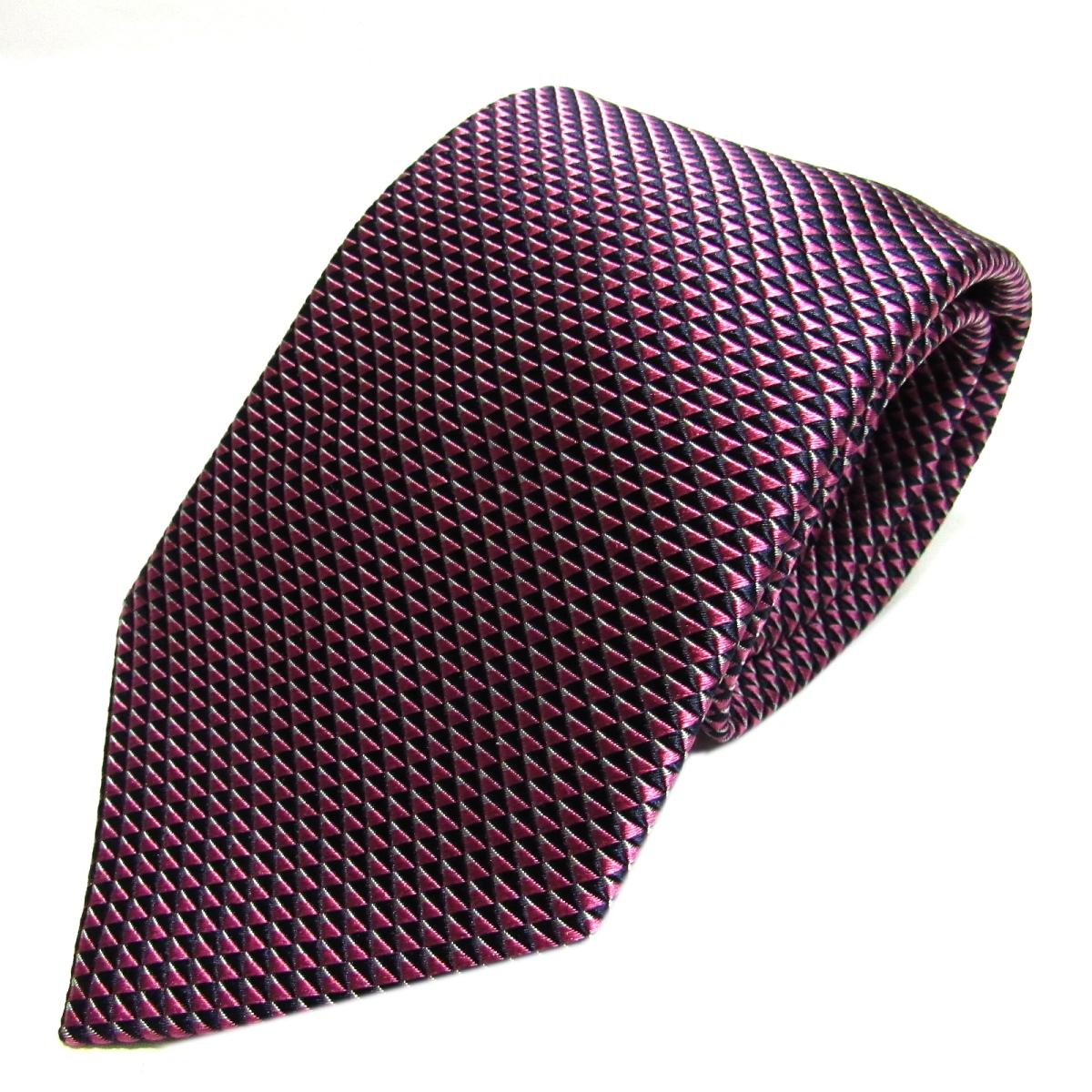エンポリオアルマーニ ネクタイ メンズ シルク ピンク x ブラック | EMPORIO ARMANI ネクタイ 新品 ブランドオフ BRANDOFF