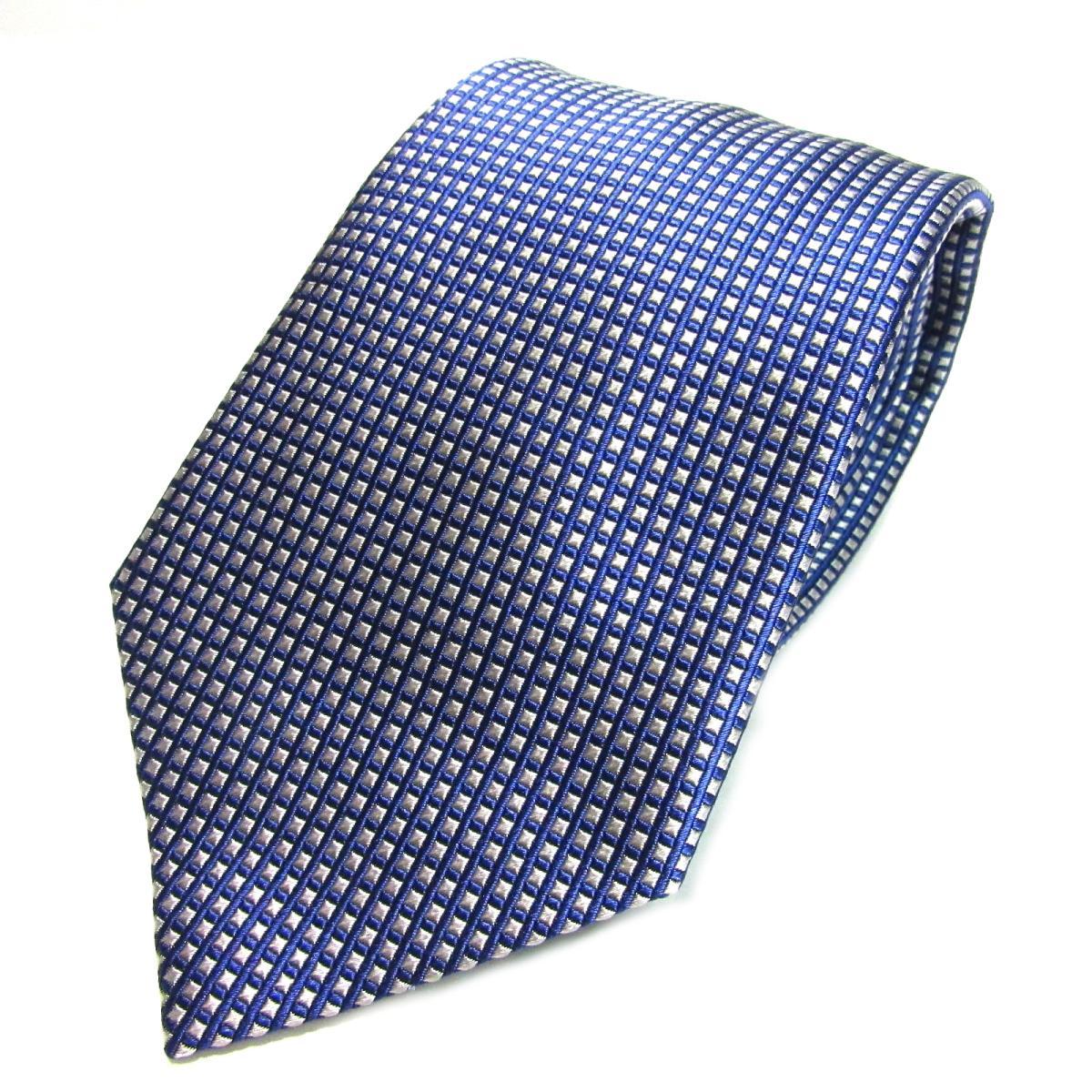エンポリオアルマーニ ネクタイ メンズ シルク ブルー x ホワイト | ARMANI ネクタイ 新品 ブランドオフ BRANDOFF
