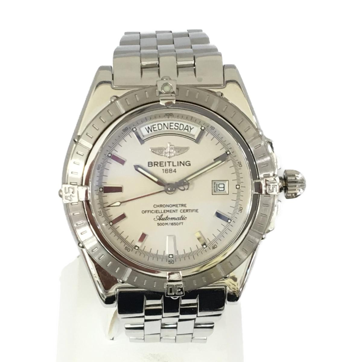 【中古】 ブライトリング ヘッドウインド 腕時計 ウォッチ メンズ ステンレススチール (SS) (A45355)   BREITLING オートマチック 自動巻き 時計 ヘッドウインド 美品 ブランドオフ