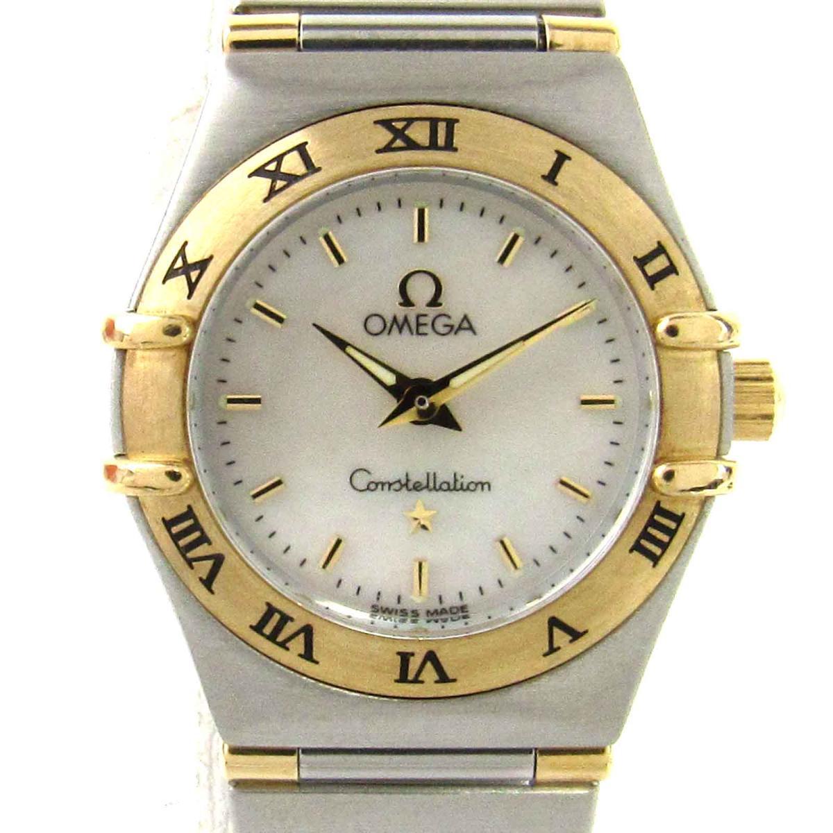 【中古】 オメガ コンステレーション ミニ ウォッチ 腕時計 レディース ステンレススチール (SS) x K18YG イエローゴールド (1362.70)   OMEGA クオーツ クォーツ 時計 K18 18金 コンステレーション ミニ 美品 ブランドオフ