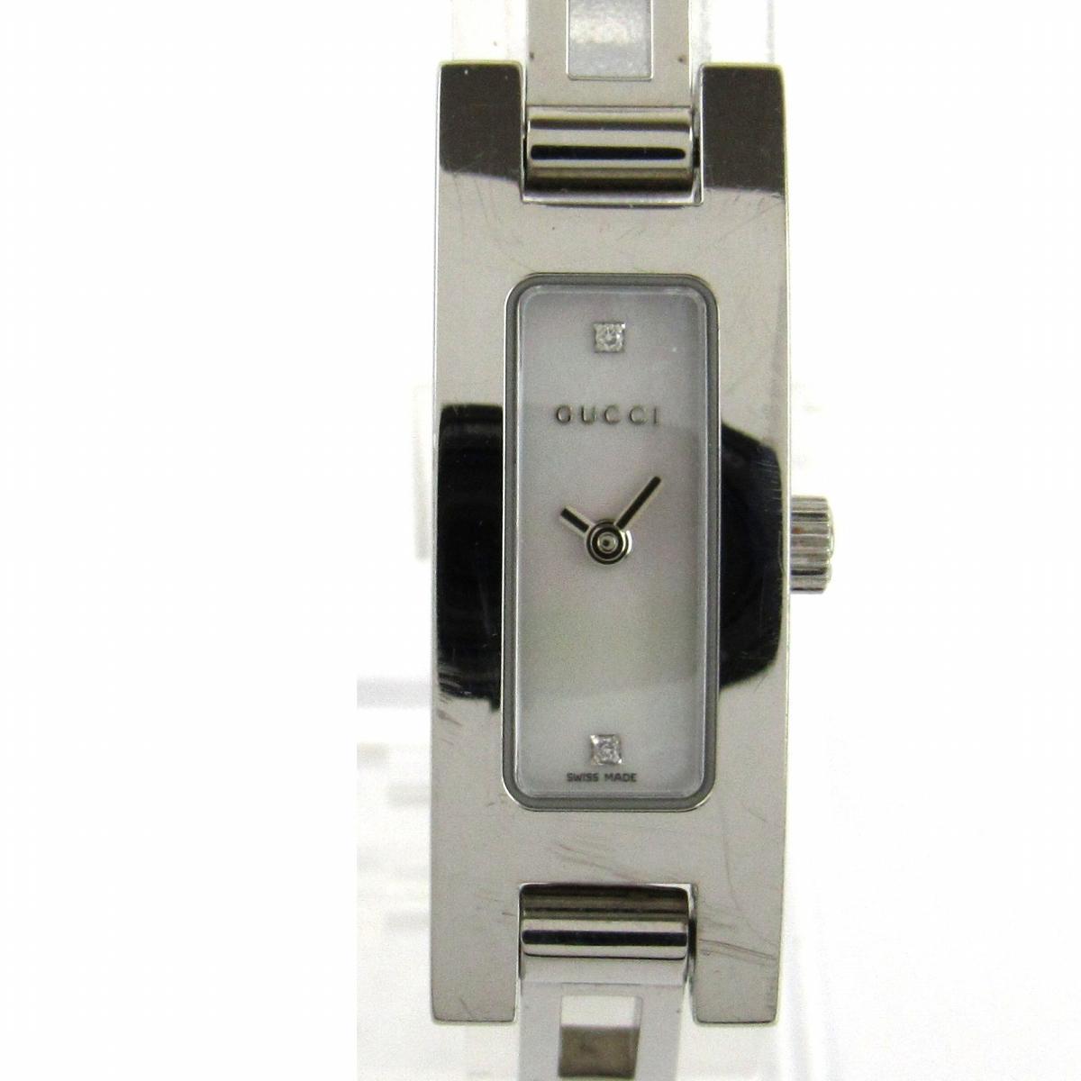 【中古】 グッチ ウォッチ 腕時計 レディース ステンレススチール (SS) x ダイヤモンド (3900L) | GUCCI BRANDOFF ブランドオフ ブランド ブランド時計 ブランド腕時計 時計