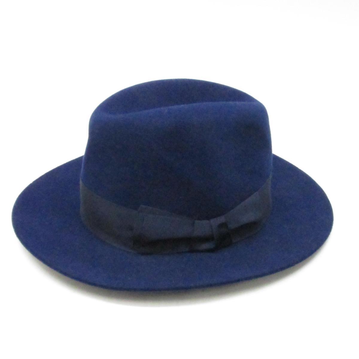 【中古】 エルメス ハット メンズ レディース タグ表記:ラパン ネイビー | HERMES 帽子 ハット ブランドオフ
