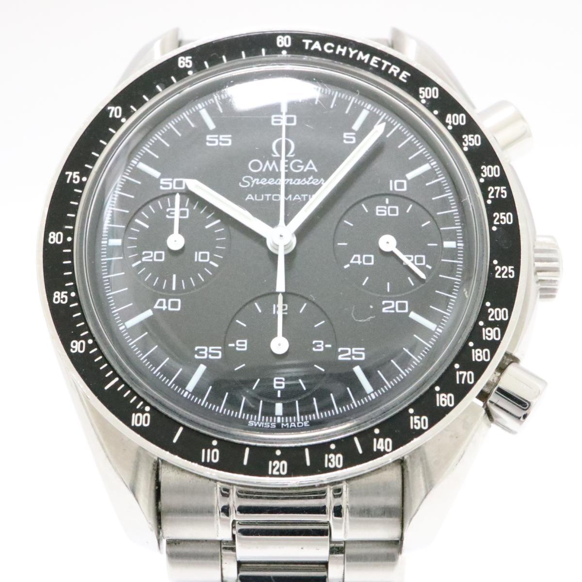【中古】 オメガ スピードマスター 腕時計 メンズ ステンレススチール (SS) ブラック (3510.50) | OMEGA オートマチック 自動巻き 時計 スピードマスター 美品 ブランドオフ