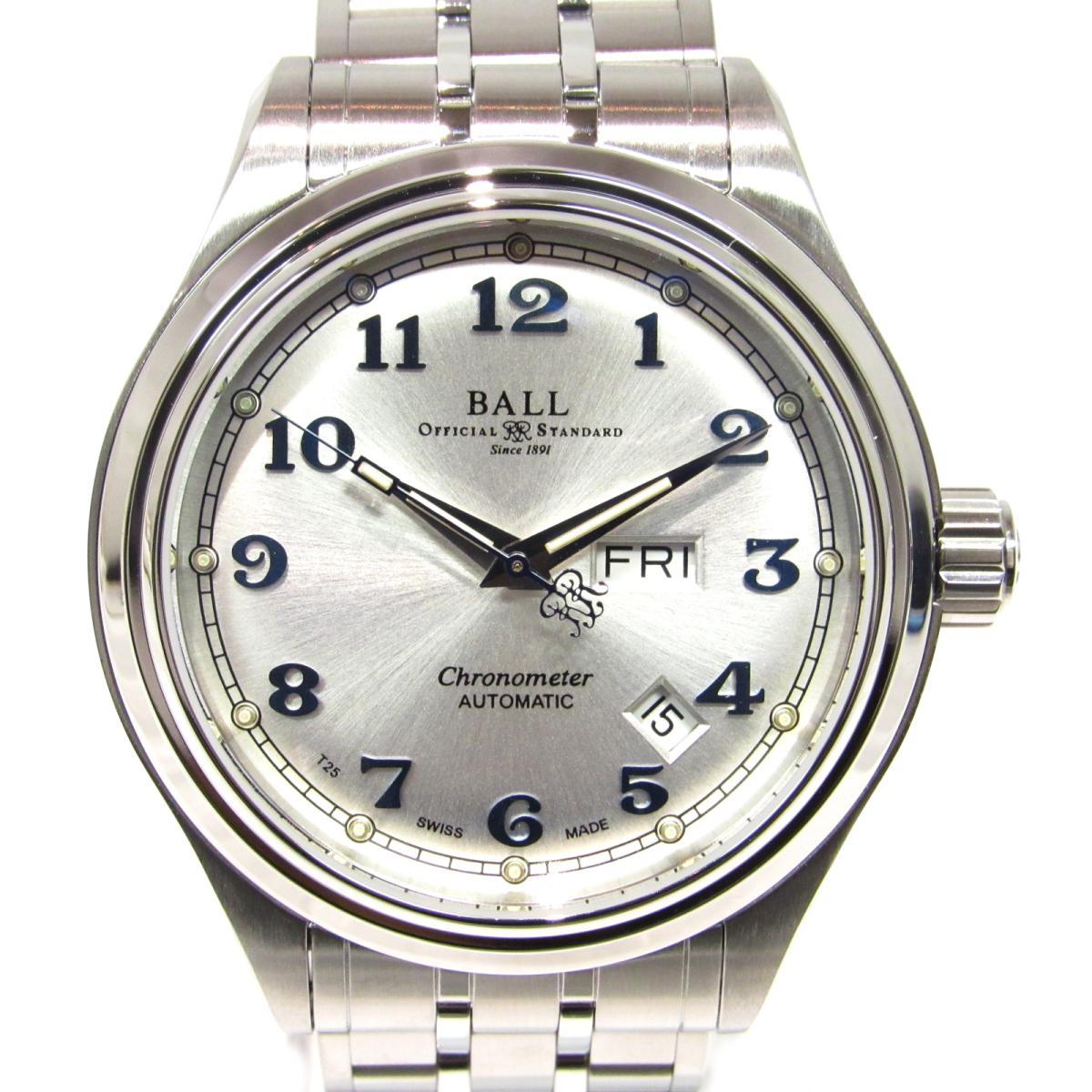 【中古】 ボール トレインマイスター 腕時計 ウォッチ メンズ ステンレススチール (SS) シルバー (NM1058D-SCJ-SL) | SELECTION オートマチック 自動巻き 時計 BALLwatch トレインマイスター 美品 ブランドオフ