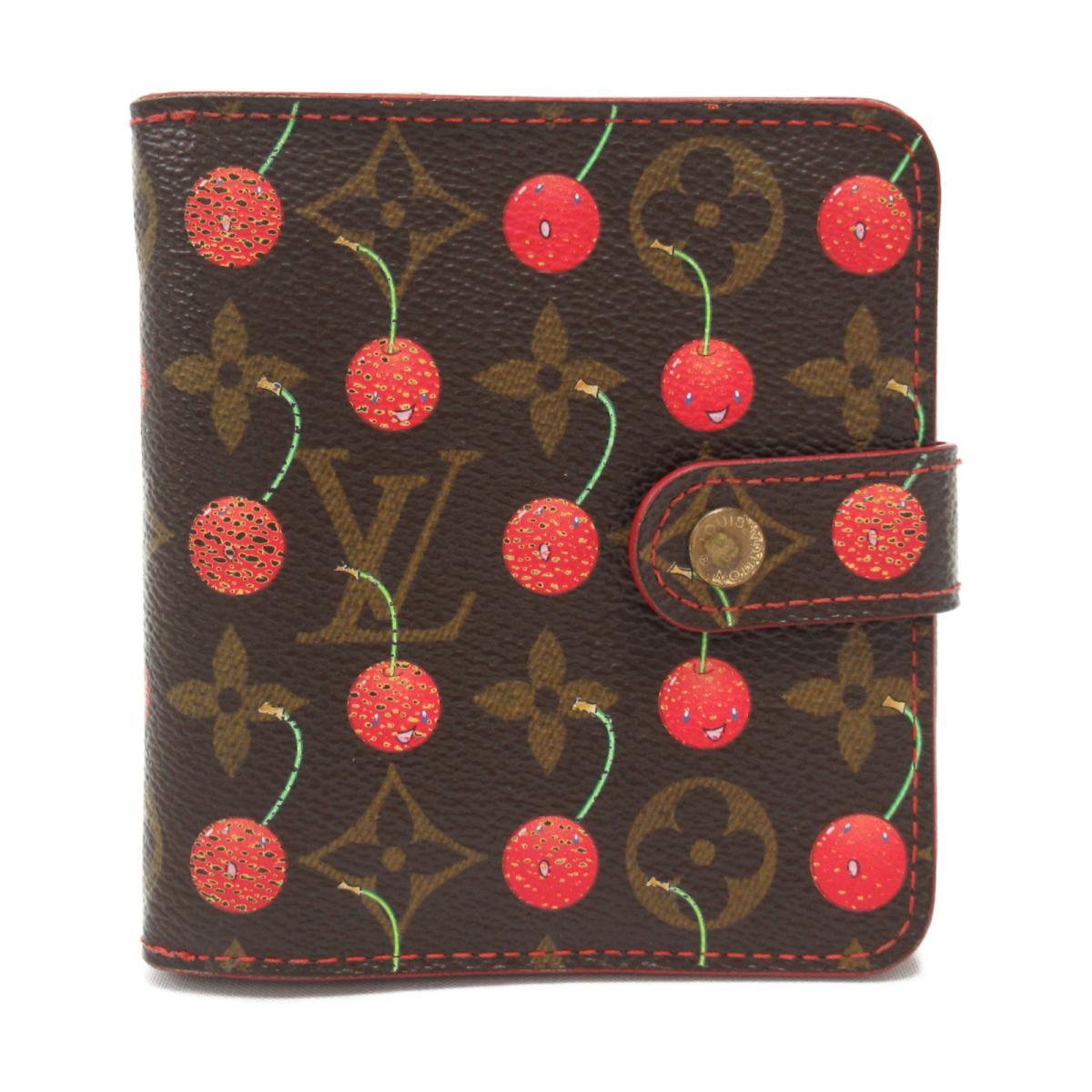 【中古】 ルイヴィトン コンパクト・ジップ 二つ折り財布 レディース モノグラム・チェリー (M95005) | LOUIS VUITTON ヴィトン ビトン ルイ・ヴィトン 財布 コンパクト・ジップ ブランドオフ