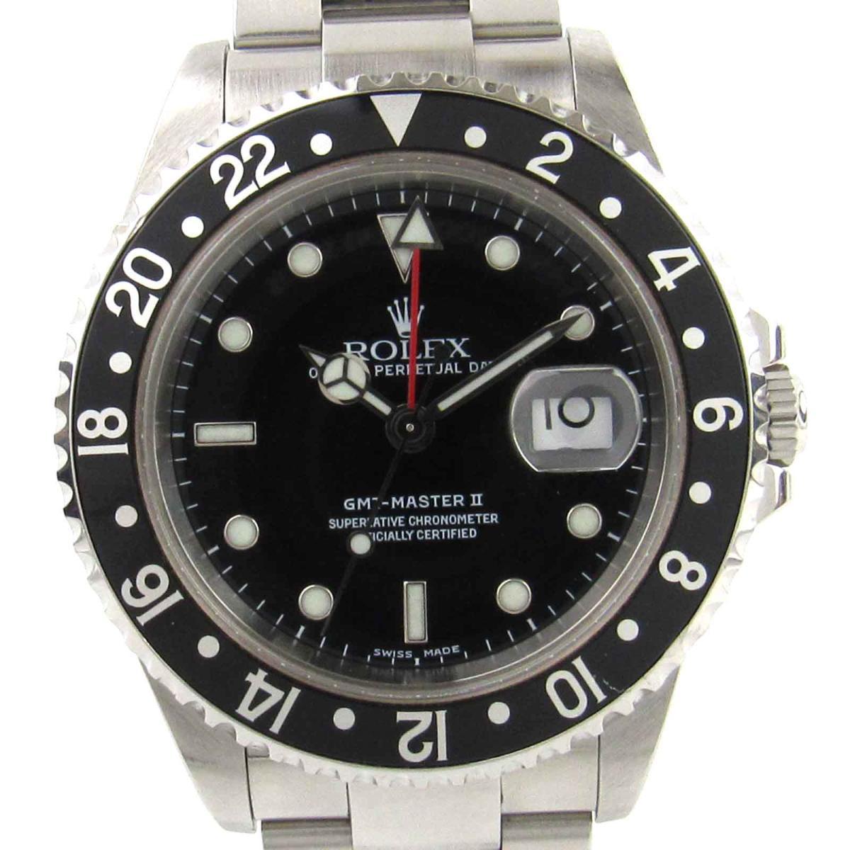 【中古】 ロレックス GMTマスター2 ウオッチ 腕時計 メンズ ステンレススチール (SS) (16710) | ROLEX オートマチック 自動巻き 時計 GMTマスター 美品 ブランドオフ