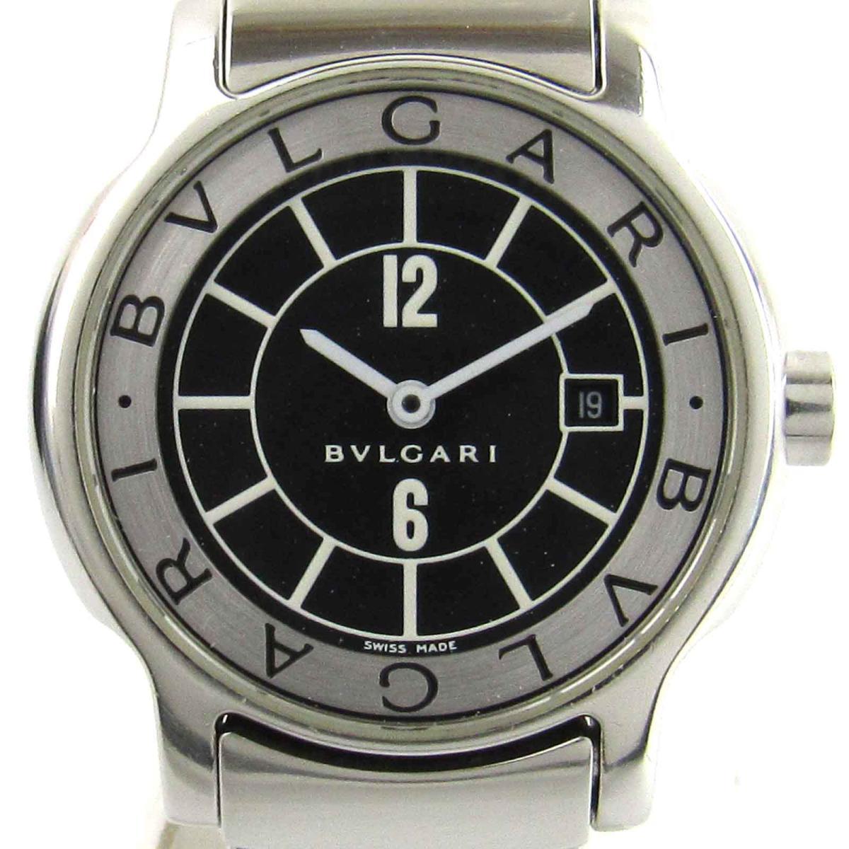 【中古】 ブルガリ ソロテンポ ウォッチ 腕時計 レディース ステンレススチール (SS) (ST29S) | BVLGARI クオーツ クォーツ 時計 ソロテンポ 美品 ブランドオフ