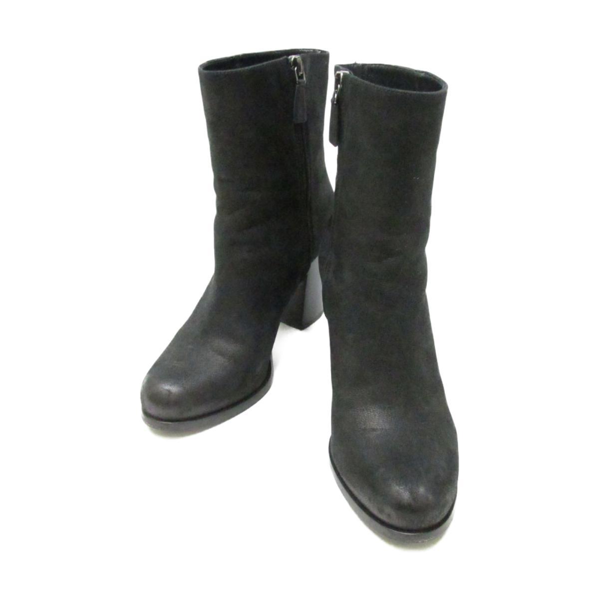 【中古】 プラダ ショートブーツ レディース レザー ブラック | PRADA くつ 靴 ショートブーツ 美品 ブランドオフ