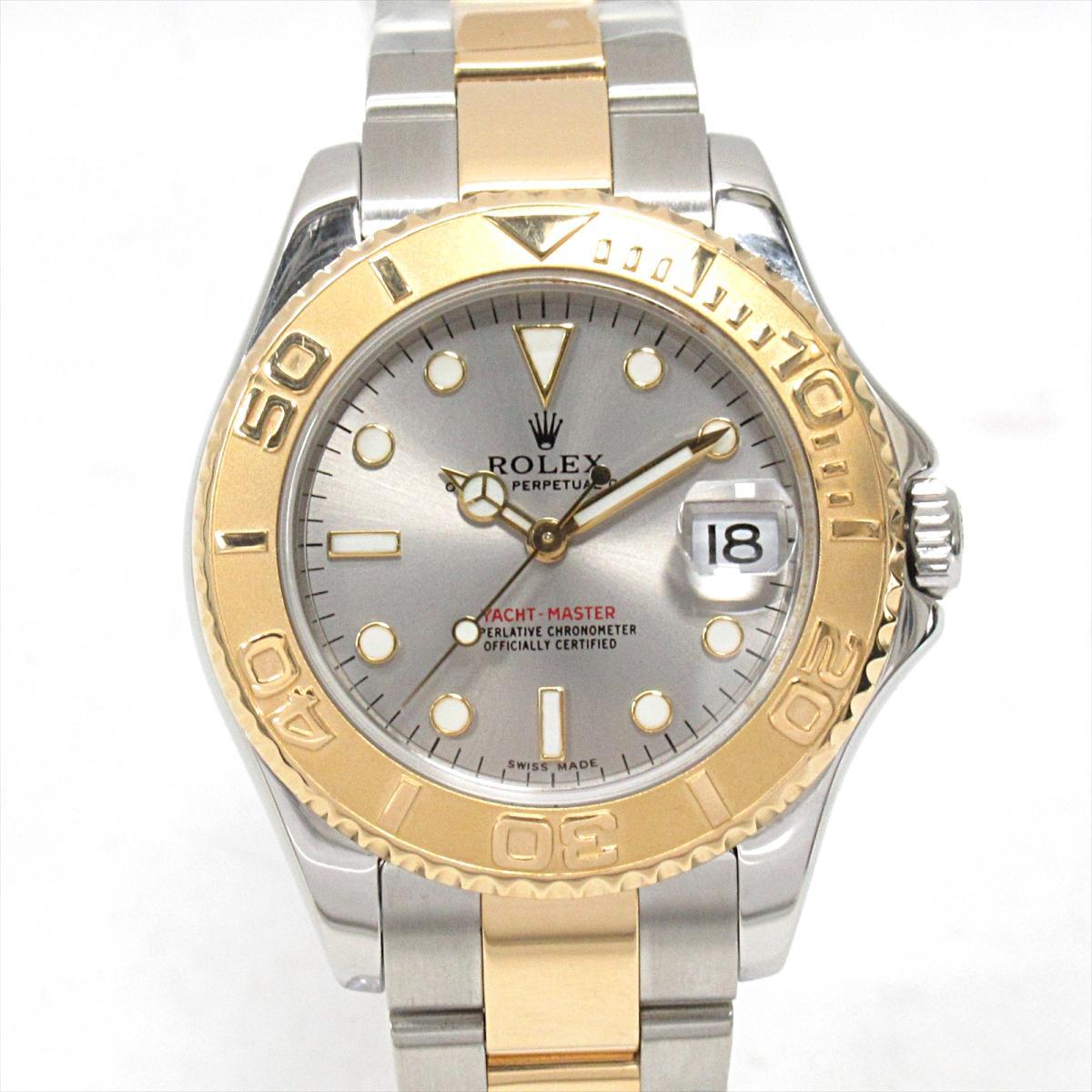 【中古】 ロレックス ヨットマスター 腕時計 ウォッチ メンズ レディース ステンレススチール (SS) x K18YG (750)イエローゴールド (168623) | ROLEX オートマチック 自動巻き 時計 ヨットマスター K18 18金 美品 ブランドオフ