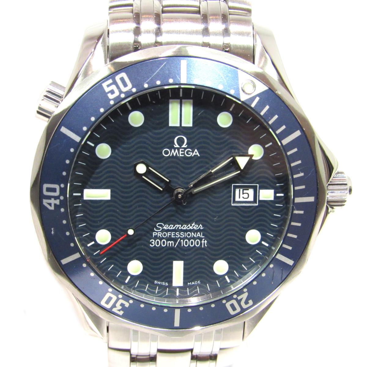 【中古】 オメガ シーマスター 300mプロフェッショナル 腕時計 ウォッチ メンズ ステンレススチール (SS) ブルー x シルバー (2541.80) | OMEGA クオーツ クォーツ 時計 シーマスター 300mプロフェッショナル 美品 ブランドオフ