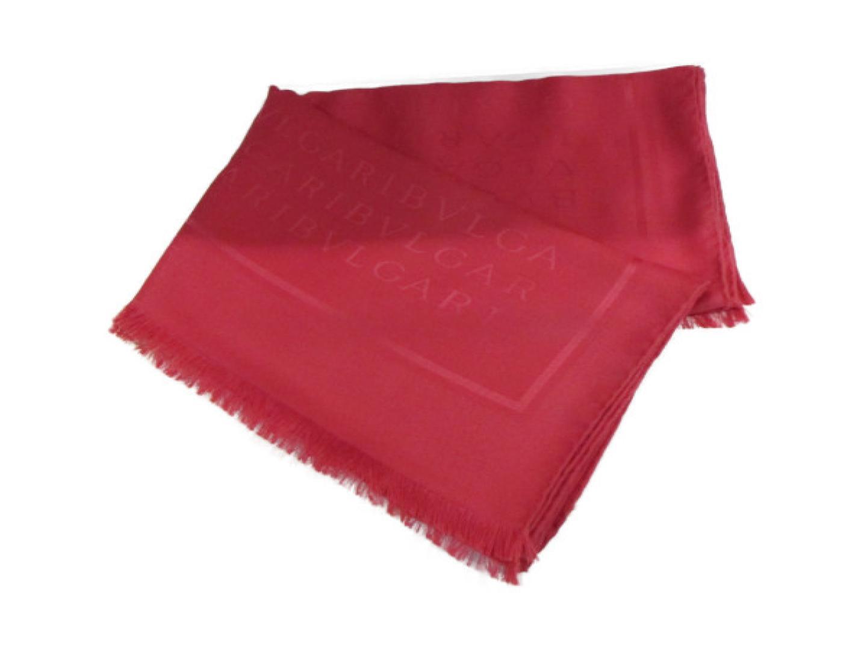 【中古】 ブルガリ ストール レディース シルク60%、ウール40% ピンク   BVLGARI ストール ストール 美品 ブランドオフ BRANDOFF