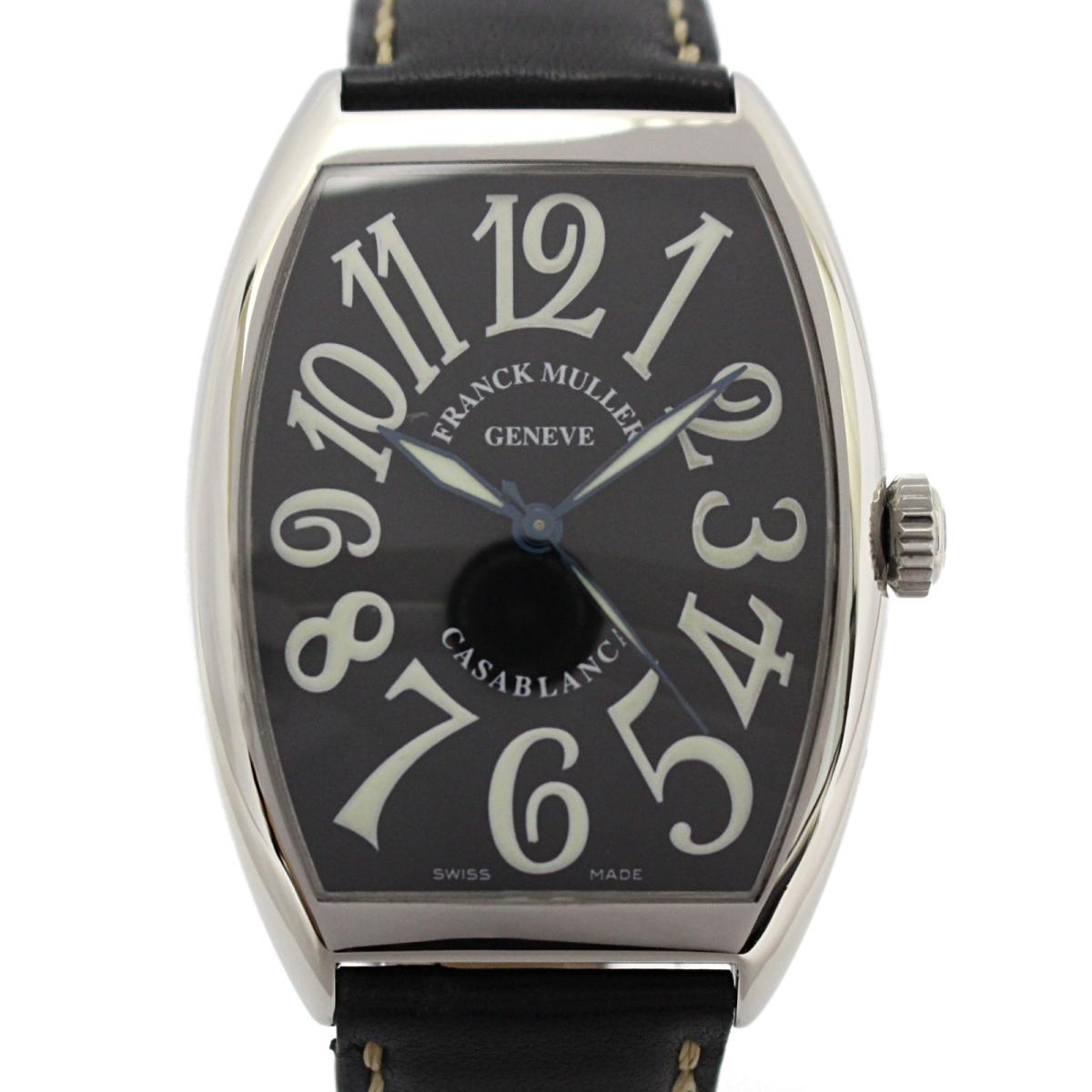 【中古】 フランク・ミュラー カサブランカ メンズウォッチ 腕時計 メンズ ステンレススチール (SS) x レザーベルト (6850)   FRANCK MULLER オートマチック 自動巻き 時計 カサブランカ 美品 ブランドオフ