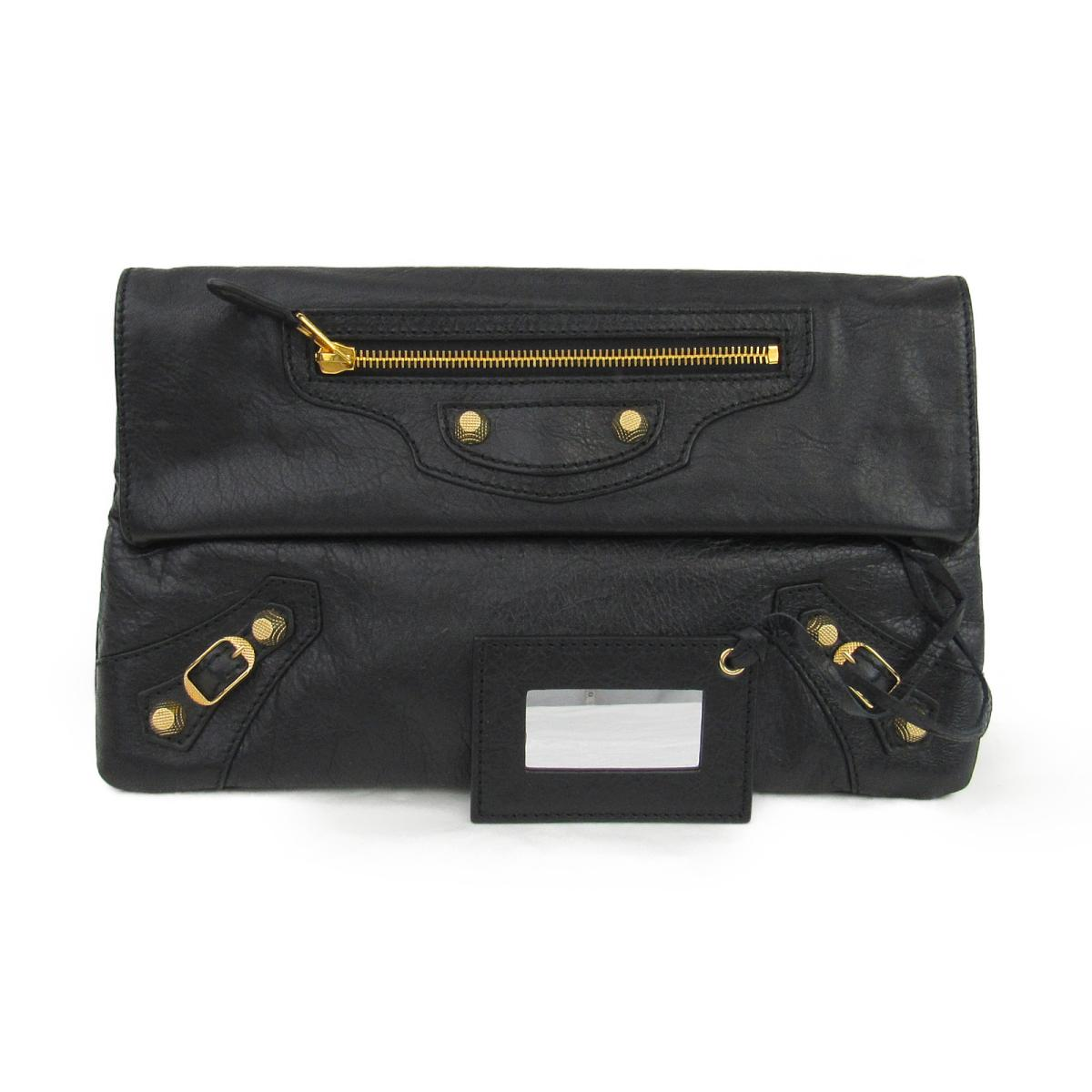 【中古】 バレンシアガ ジャイアント エンベロープ クラッチバッグ メンズ レザー ブラック (282011) | BALENCIAGA セカンドバッグ クラッチバック バッグ バック BAG カバン 鞄 ブランドバッグ ブランドバック 美品 ブランドオフ