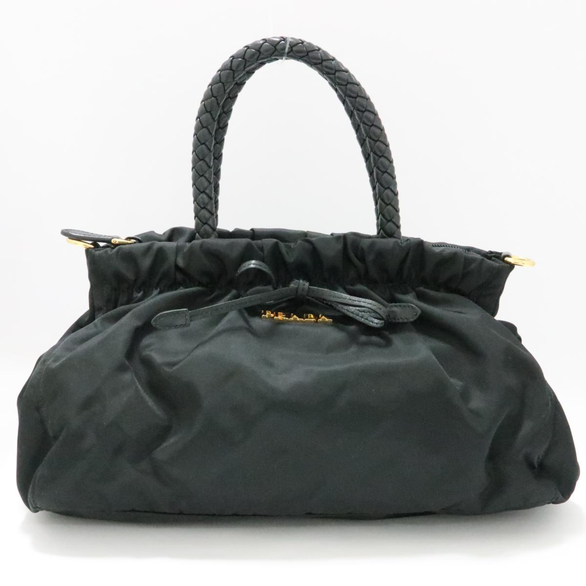 【中古】 プラダ 2WAY ショルダーバッグ レディース ナイロン ブラック | PRADA ショルダーバック ショルダー 肩がけ バッグ バック BAG カバン 鞄 ブランドバッグ ブランドバック 美品 ブランドオフ