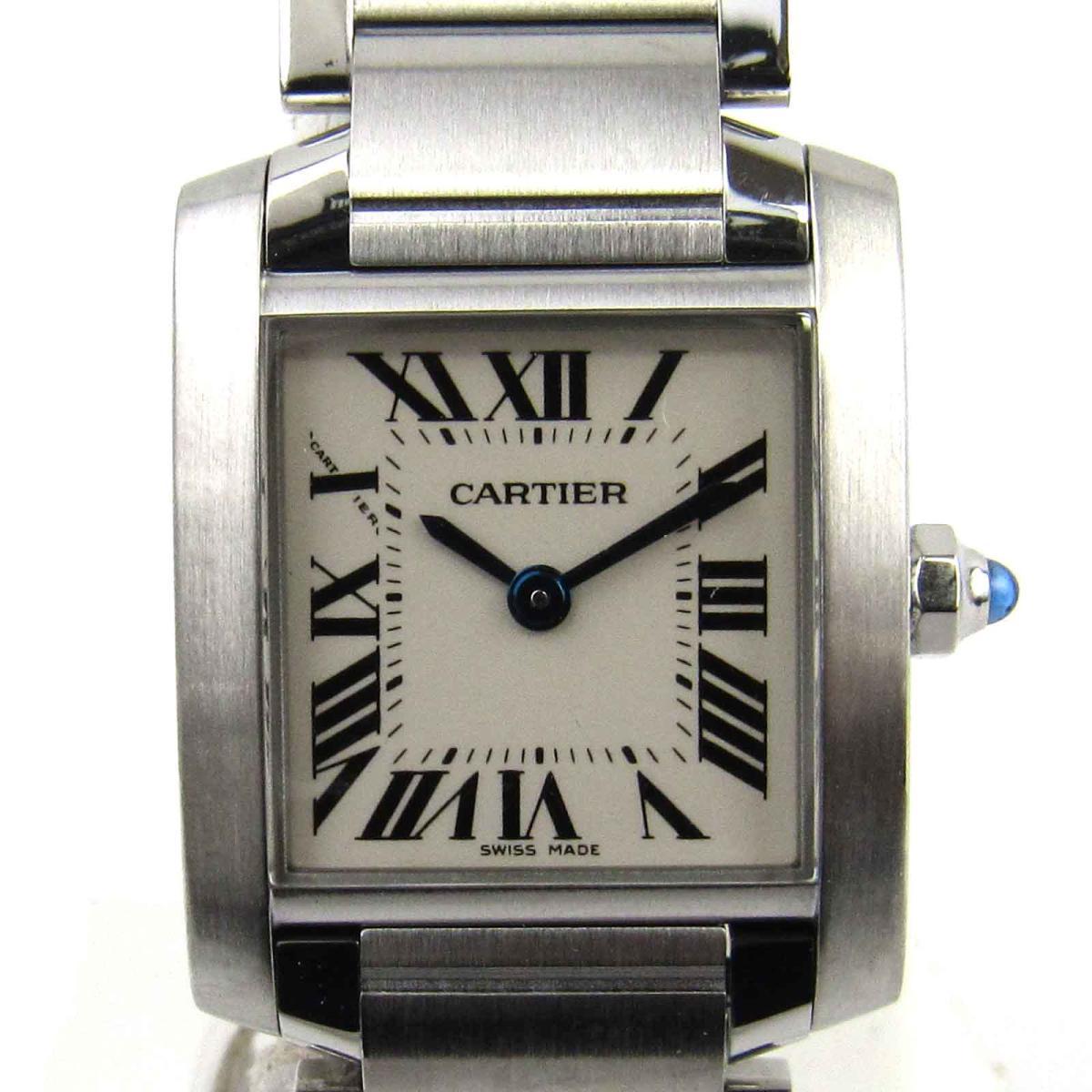 【中古】 カルティエ タンクフランセーズSM ウォッチ 腕時計 レディース ステンレススチール (SS) (W51008Q3) | Cartier BRANDOFF ブランドオフ ブランド ブランド時計 ブランド腕時計 時計