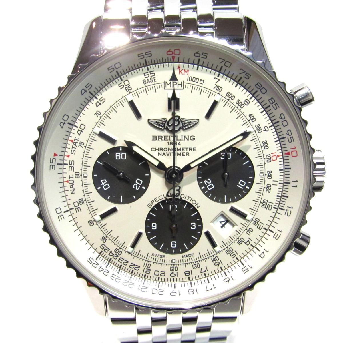 【中古】 ブライトリング ナビタイマー01シルバーグレー 腕時計 ウォッチ メンズ ステンレススチール (SS) シルバー x グレー (AB012012/G826) | BREITLING BRANDOFF ブランドオフ ブランド ブランド時計 ブランド腕時計 時計