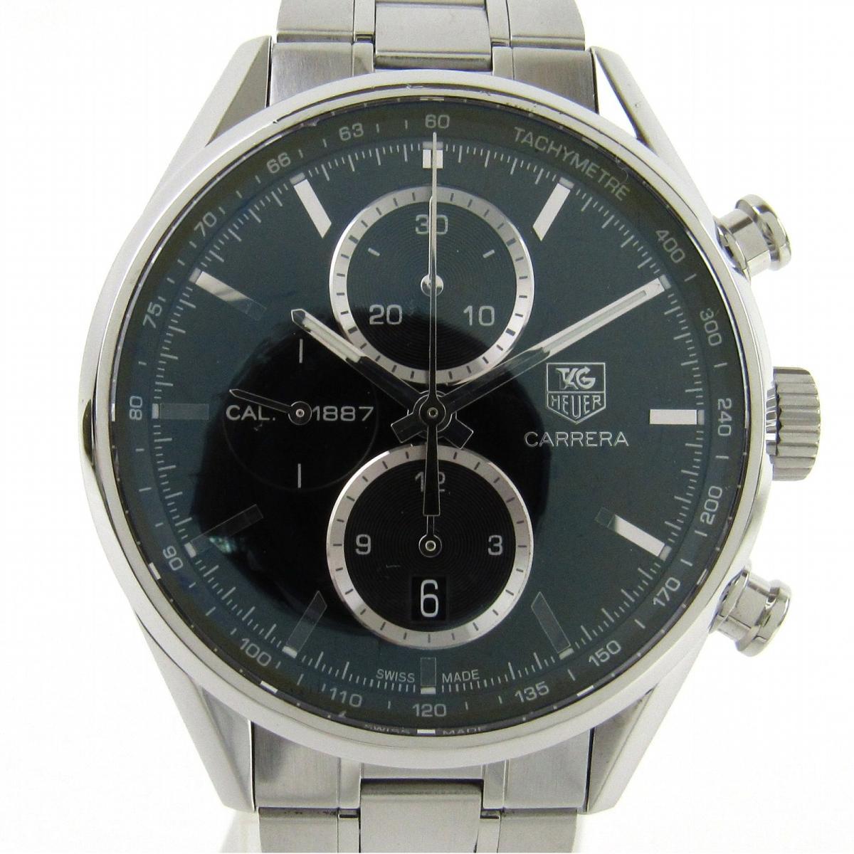 【中古】 タグ・ホイヤー カレラ クロノグラフ 1887 ウォッチ 腕時計 メンズ ステンレススチール (SS) (CAR2110-4) | TAG HEUER BRANDOFF ブランドオフ ブランド ブランド時計 ブランド腕時計 時計