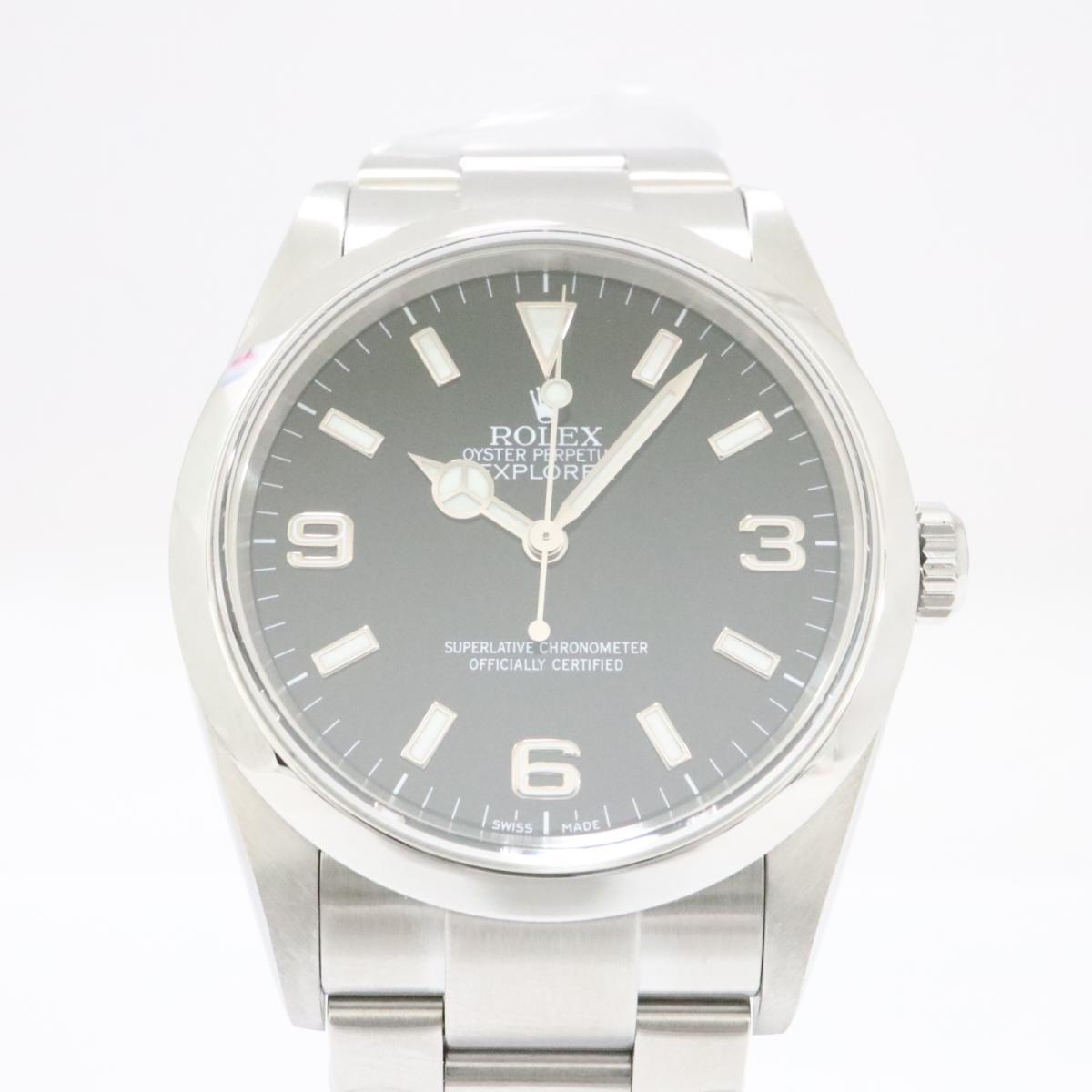 【中古】 ロレックス エクスプローラー1 腕時計 メンズ ステンレススチール (SS) ブラック (114270) | ROLEX BRANDOFF ブランドオフ ブランド ブランド時計 ブランド腕時計 時計 ウォッチ