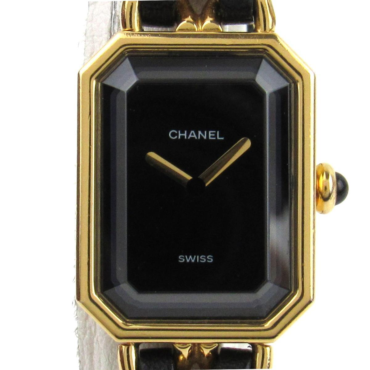 【中古】 シャネル プルミエールL ウォッチ 腕時計 レディース レザーベルト x GP (ゴールドメッキ) (H0001) | CHANEL BRANDOFF ブランドオフ ブランド ブランド時計 ブランド腕時計 時計