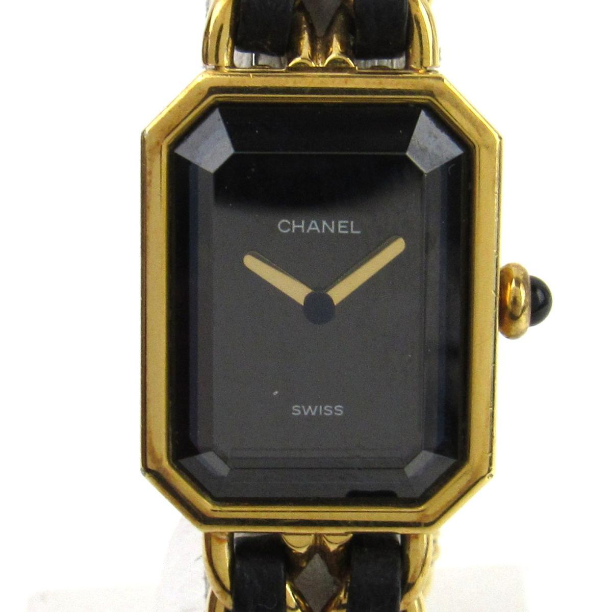 【中古】 シャネル プルミエールS ウォッチ 腕時計 レディース レザーベルト x GP (ゴールドメッキ) (H0001) | CHANEL BRANDOFF ブランドオフ ブランド ブランド時計 ブランド腕時計 時計