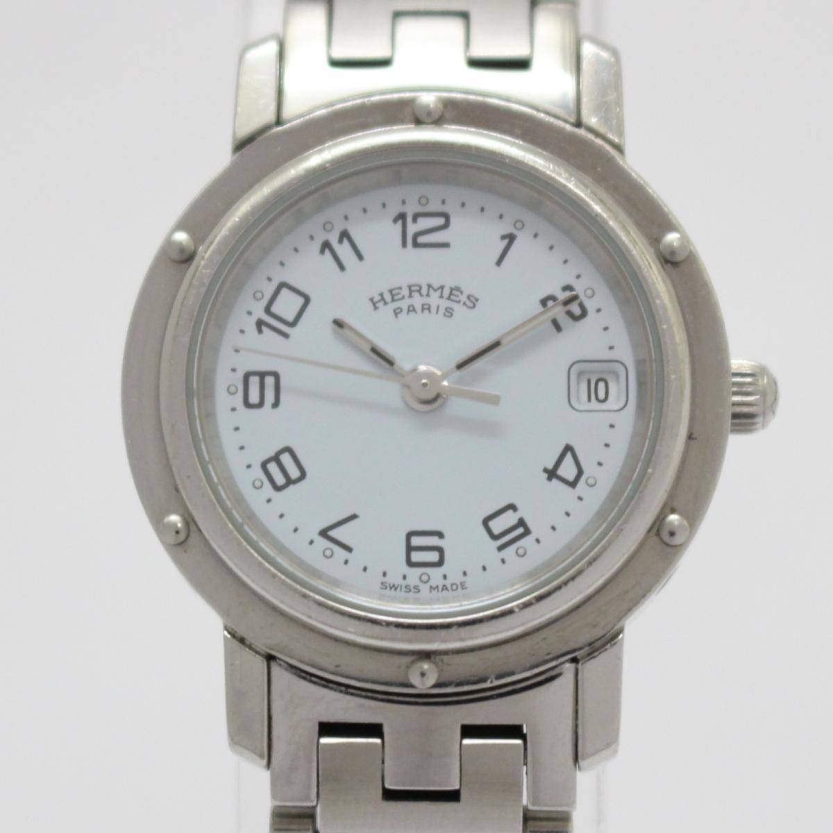 【中古】エルメス クリッパー レディースウォッチ 腕時計 レディース ステンレススチール(SS) (CL4.210)