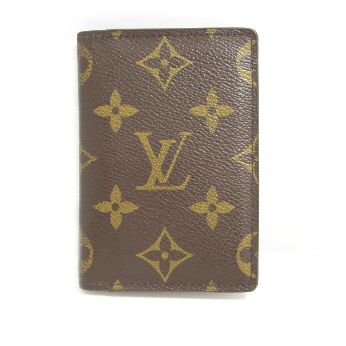 【中古】ルイヴィトン ポケットオーガナイザー カードケース 名刺入れ ユニセックス モノグラム モノグラム (M60502)