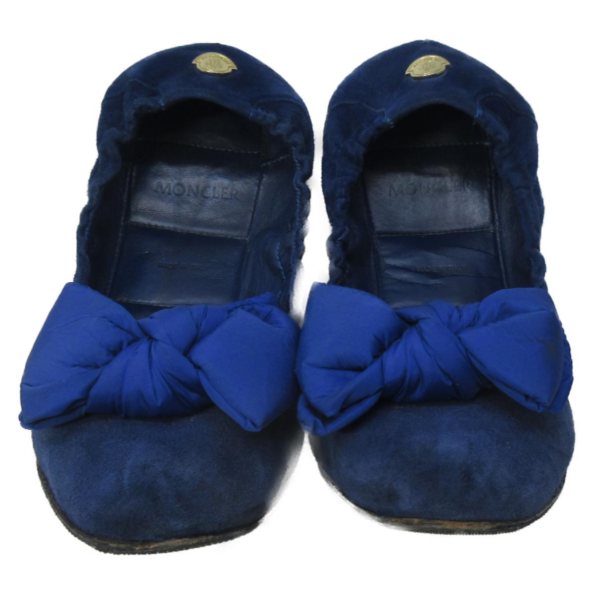 モンクレール バレーシューズ レディース レザー (スエード) ブルー | MONCLER BRANDOFF ブランドオフ ブランド 靴 シューズ クツ バレエシューズ バレエ:Brandoff銀座