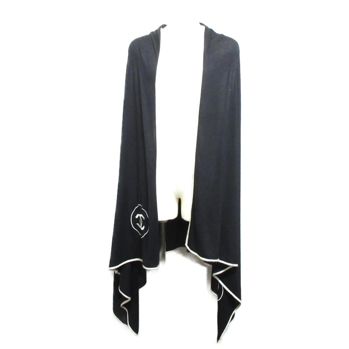 0417ca066a8e シャネル ストール レディース 70%カシミア x 30%シルク ブラック ホワイト | CHANEL BRANDOFF ブランド