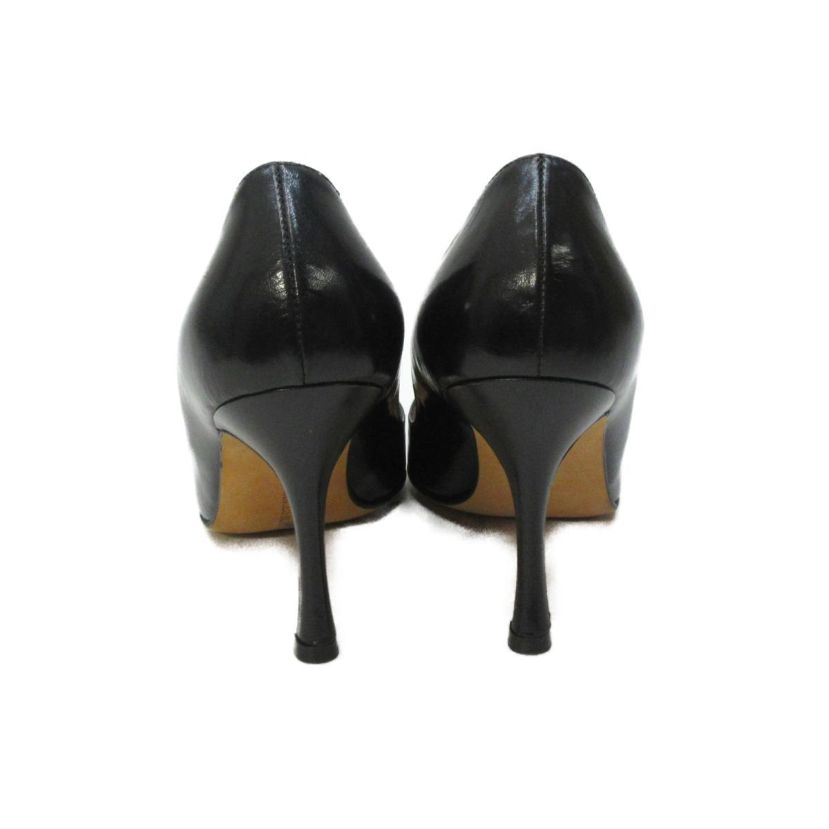 マノロ・ブラニク パンプス レディース レザー ブラック | Manolo Blahnik BRANDOFF ブランドオフ ブランド 靴 シューズ クツ