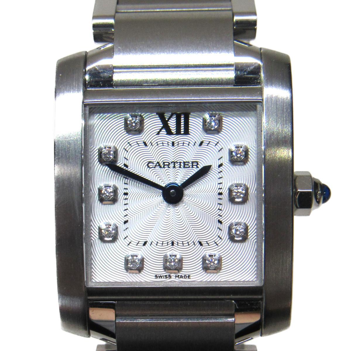【中古】 カルティエ タンクフランセーズSM 11Pダイヤモンド 腕時計 ウォッチ レディース ステンレススチール (SS) x ダイヤモンド (WE110006) | Cartier BRANDOFF ブランドオフ ブランド ブランド時計 ブランド腕時計 時計