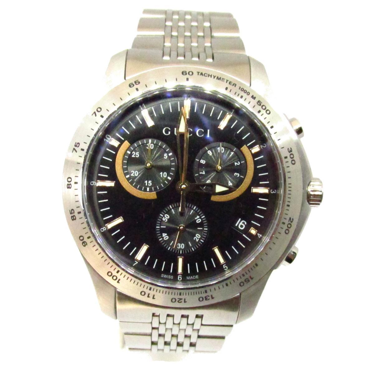 【中古】 グッチ Gタイムレスクロノ ウォッチ 腕時計 メンズ ステンレススチール (SS) シルバー (YA126257) | GUCCI クオーツ クォーツ 時計 Gタイムレスクロノ 美品 ブランドオフ BRANDOFF