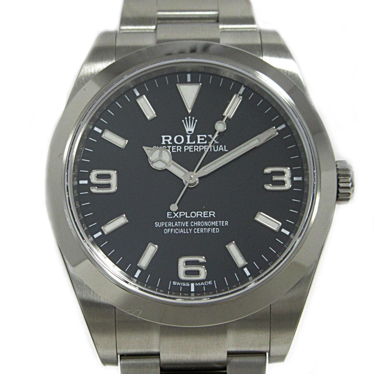 【中古】 ロレックス エクスプローラー1 腕時計 ウォッチ メンズ ステンレススチール (SS) (214270) | ROLEX BRANDOFF ブランドオフ ブランド ブランド時計 ブランド腕時計 時計