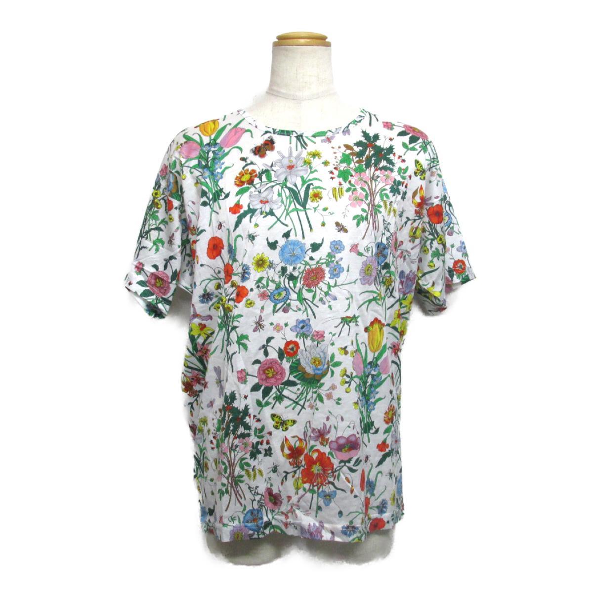【中古】 グッチ Tシャツ レディース コットン ホワイト x マルチ | GUCCI BRANDOFF ブランドオフ 衣料品 衣類 ブランド トップス Tシャツ シャツ カットソー