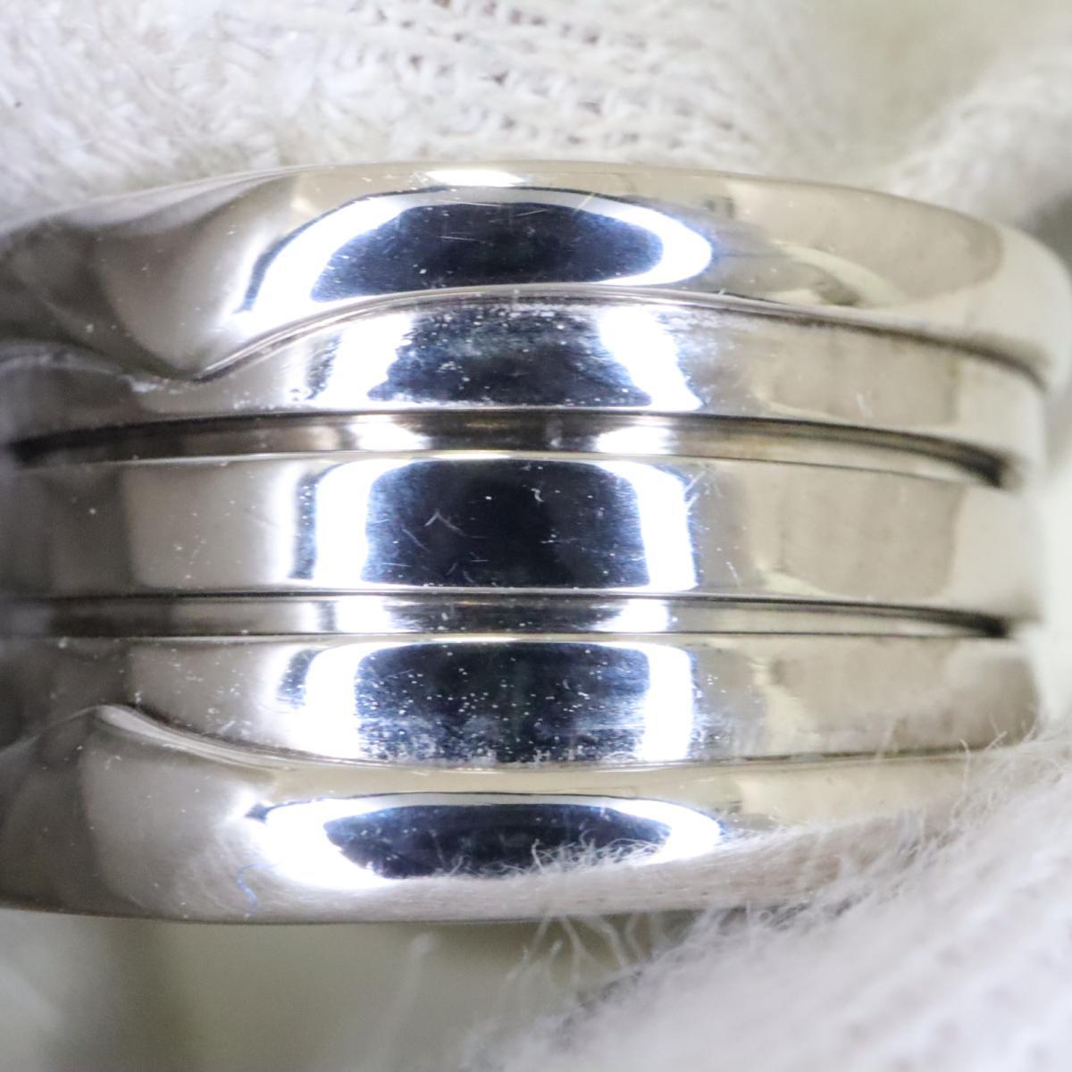 ブルガリ B zero1 リング Mサイズ 指輪 メンズ レディース K18WG750ホワイトゴールド シルバーBnmOv80wN