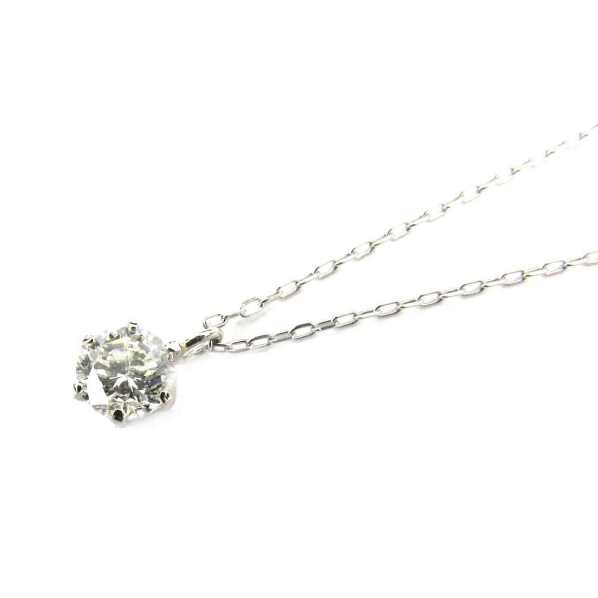 ジュエリー 一粒ダイヤモンド ネックレス レディース PT900 プラチナ x PT850 ダイヤモンド (0.307ct) クリアー シルバー (695817) | JEWELRY BRANDOFF ブランドオフ ブランド アクセサリー ペンダント