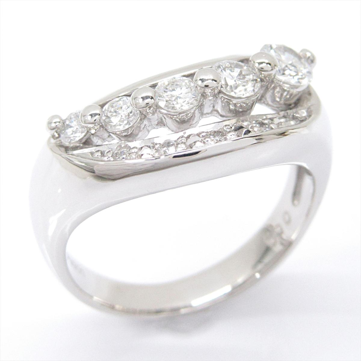【中古】 ジュエリー ダイヤモンドリング 指輪 レディース PT900 プラチナ x ダイヤモンド (0.50ct)   JEWELRY BRANDOFF ブランドオフ ブランド アクセサリー リング