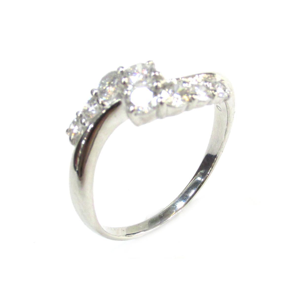【中古】 ジュエリー ダイヤモンド リング 指輪 レディース PT900 プラチナ x (0.50ct) クリアー シルバー | JEWELRY BRANDOFF ブランドオフ ブランド アクセサリー