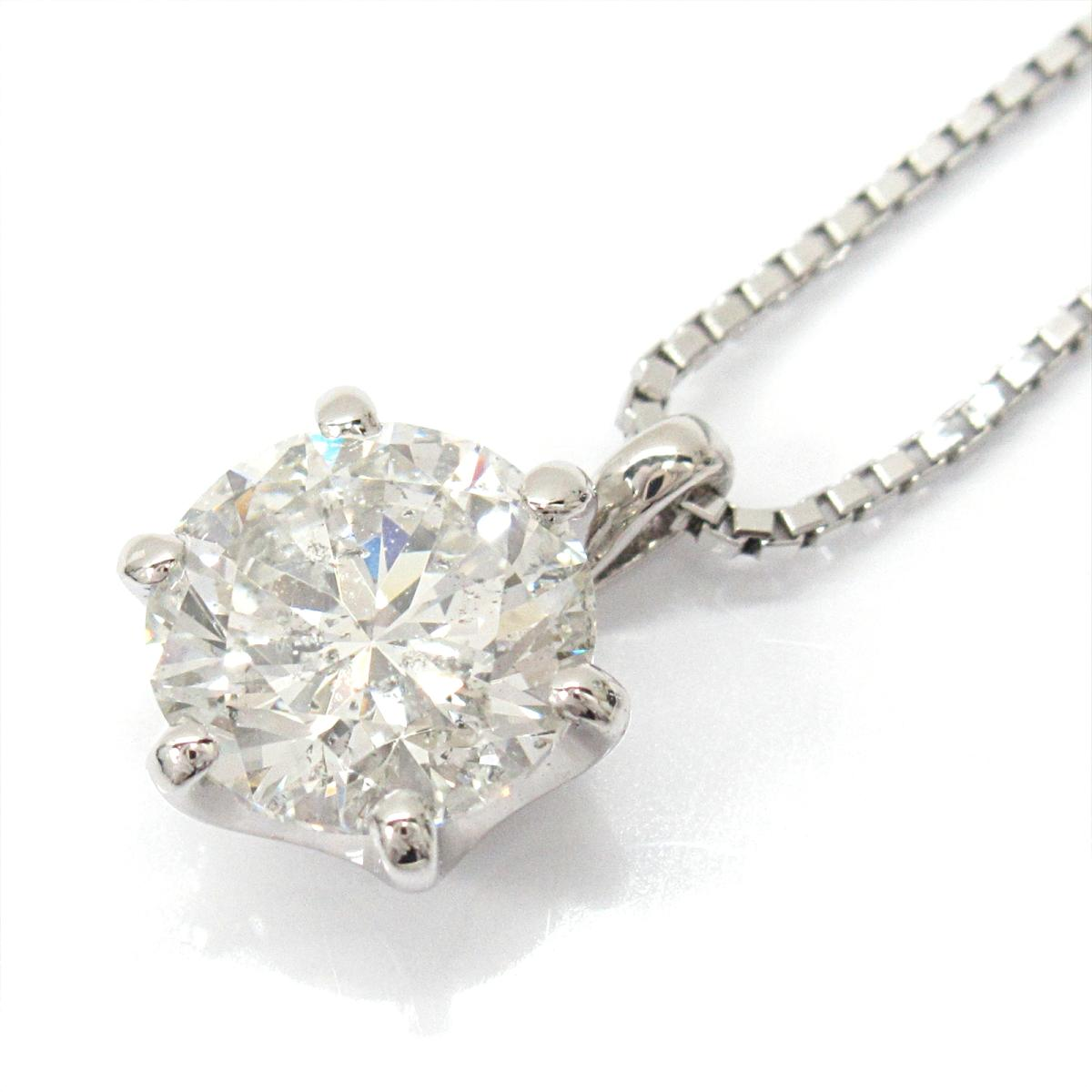 ジュエリー 一粒 ダイヤモンド ネックレス レディース PT900 プラチナ x PT850 (プラチナ) ダイヤモンド1.010ct | JEWELRY BRANDOFF ブランドオフ ブランド アクセサリー ペンダント