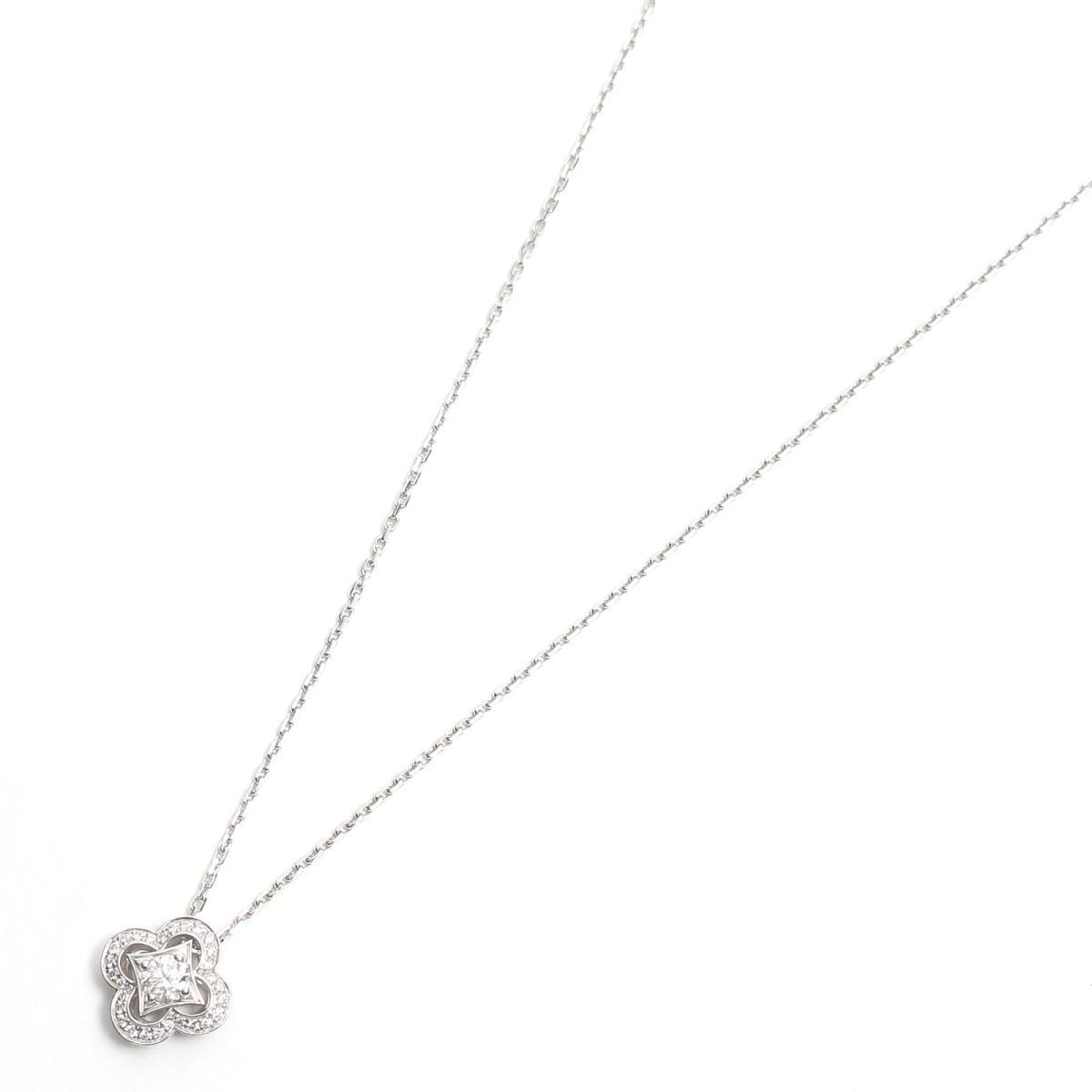 【中古】 ルイヴィトン パンダンティフ ダイヤモンドネックレス ペンダント レディース K18WG (750) ホワイトゴールド x ダイヤモンド | LOUIS VUITTON BRANDOFF ブランドオフ ヴィトン ルイ・ヴィトン ブランド ネックレス