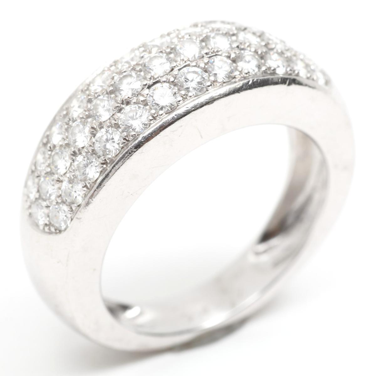 【中古】 ヴァンクリーフ&アーペル ダイヤモンド リング 指輪 レディース K18WG (750) ホワイトゴールド x | Van Cleef & Arpels BRANDOFF ブランドオフ ブランド ジュエリー アクセサリー