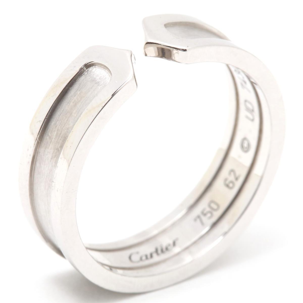 【中古】 カルティエ C2 リング 指輪 レディース K18WG (750) ホワイトゴールド | Cartier BRANDOFF ブランドオフ ブランド ジュエリー アクセサリー