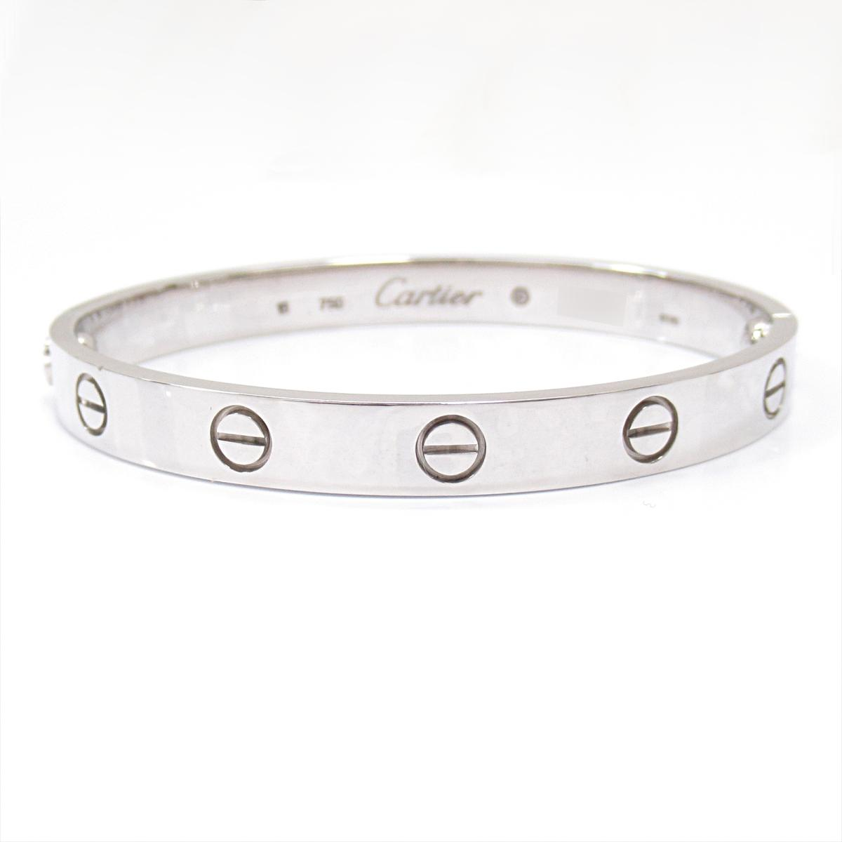 【中古】 カルティエ ラブブレス ブレスレット メンズ レディース K18WG (750) ホワイトゴールド | Cartier BRANDOFF ブランドオフ ブランド アクセサリー 腕輪