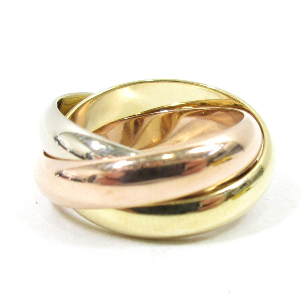 【中古】 カルティエ トリニティリング 指輪 レディース K18YG (750) イエローゴールド x K18WG (750)ホワイトゴールド K18PG (750)ピンクゴールド スリーゴールド | Cartier BRANDOFF ブランドオフ ブランド ジュエリー リング