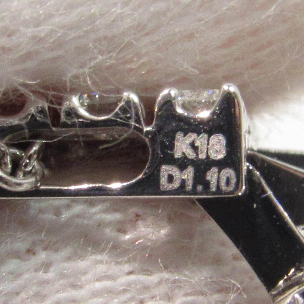 ジュエリー ネックレス ダイヤモンドネックレス レディース K18WG750ホワイトゴールド x D1 10ct シルバSUMzpV